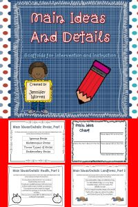 Students will better understand how to differentiate between main ideas and details when they can manipulate chunks of texts in this activity.