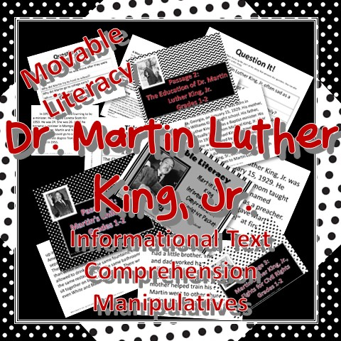 Martin Luther King Informational Text Manipulatives