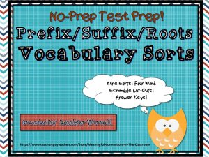 Need some sorts to help your students understand word parts? Here is some no-prep test prep!