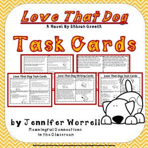 Love That Dog Task Cards