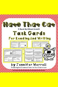 Are you using Sharon Creech's Hate That Cat in your poetry unit? These Hate That Cat task cards will add engagement to your poetry unit.