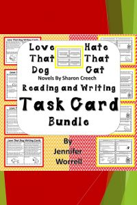 Is Sharon Creech's Love That Dog or Hate That Cat a part of your poetry unit activities? If so, this task card bundle will add engagement to your unit! $3