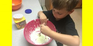 Two-ingredient slime with no Borax or glue!