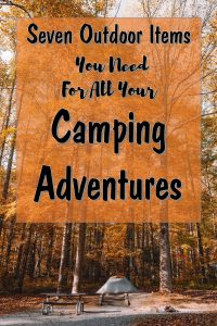 Is the great outdoors calling your name? Here are some outdoor products to take with you when you pitch your tent.