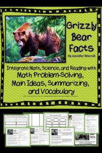 This no-prep literacy and problem solving activity integrates math, science, and reading. Math problem solving, main ideas, summarizing, and vocabulary are all included. So are the grizzly bears.