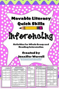 These inferencing activities incorporate vocabulary and reading manipulatives to help your students develop higher order thinking skills.