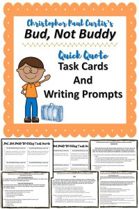 These Bud, Not, Buddy task cards use higher order questions and quotes from the novel to compare and contrast texts, practice reading comprehension, enhance critical thinking skills, and practice writing skills.