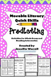 These reading manipulative activities will help your students develop their predicting skills.