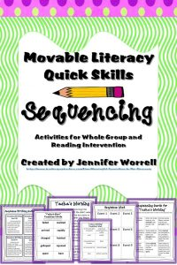 The reading manipulative sequencing activities in this packet will help improve your students' reading comprehension.
