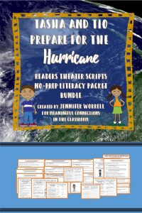Tasha and Tio Prepare for the Hurricane: Readers Theater Script and No-Prep Literacy Packet Bundle