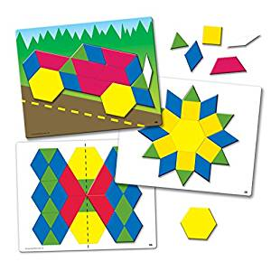 Magnetic Pattern Blocks always add STEM fun to a playroom or classroom.